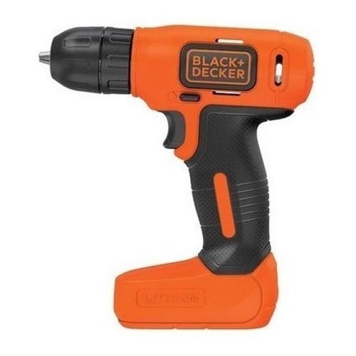 Taladro eléctrico  destornillador Black+Decker LD008 inalámbrico 400rpm naranja 8V