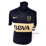 Boca Juniors Negra Nike Dri Fit 2016 Match Tela Juego Nueva