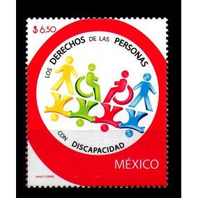 Mexico Sc 2554 $6.50p Derechos Personas Con Discapacidad