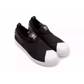 Tênis adidas Superstar Slip On Preto Feminino