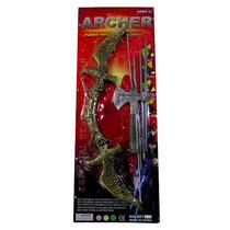 Brinquedo De Arco E Flecha De Plástico Com Acessórios Archer