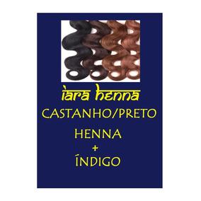 Henna Castanho/preto - Índigo + Henna (grátis Henna De 50g)