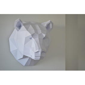 Cabezas De Animales 3d Decorativas Oso Tamaño 44x40x40