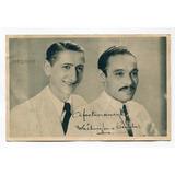 Foto Tarjeta Odeon Autografo Artista Jazz Sexteto Bertolin