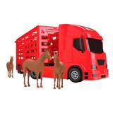 Caminhão Brinquedo Haras Transporte De Cavalos Boiadeiro