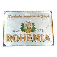 Quadro Placa Decorativa Metal Tema Cerveja 29x41