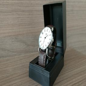 Relógio Masculino Original Couro Brinde Barato Importado