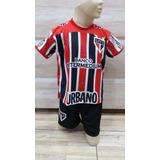 Conjunto Infantil São Paulo Uniforme Camiseta + Shorts 2017