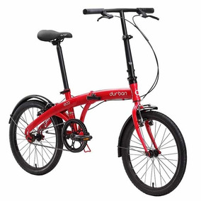 Bicicleta Dobrável Durban Eco Cicloturismo - Vermelho