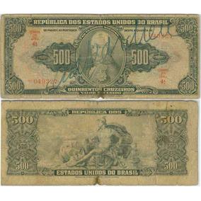 Cédula 500 Cruzeiros 1948 Autografada