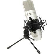 Microfono Condenser Tascam Tm-80 Con Soporte De Mesa Y Araña