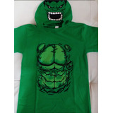 Remeras Con Mascara Capitan,hulk,araña,superman,batman,geko