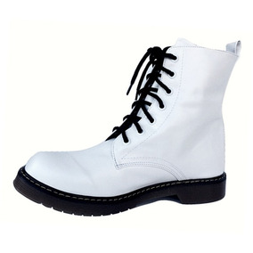 Botas Dama Zapatos Dama Botas Blancas (estilo Dr Martens)