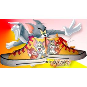 Botitas Pintadas/customizadas Personalizadas Tom Y Jerry