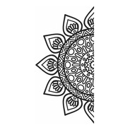 Adesivo Parede Decorativo Para Box Mandala M3 Vidro Banheiro