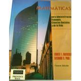 Matemáticas Para Administración Economia C. Socia Haeussler