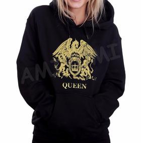 Blusa Moletom Queen Freddie Mercury Canguru