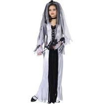 Novia Skeleton Costume Girl - Large