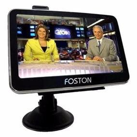 Gps Foston Tv Digital Bluetooth Avisa Radar Mapa Atualizado