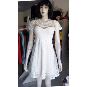 Vestido Ajustada - Balada - Renda C/ Gripir Bordado C/ Tule