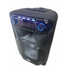 Caixa Som Amplificada 3400w Bluetooth Usb Sd Fm Microfone