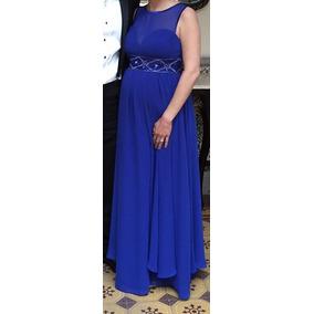 Vestido Largo Azul Rue De La Paix Para Fiesta