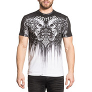 Remera Affliction Apache Tarnish Black Riders Bike