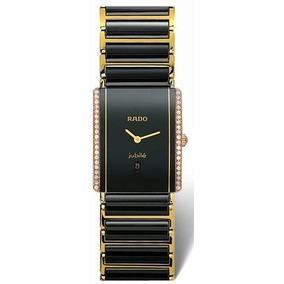 Rado Integral Superjubile Diamante Negro Y Oro Reloj Unisex