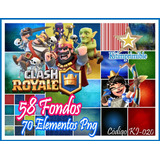 Kit De Imagenes Digitales + Fondos Clash Royale Ki-020