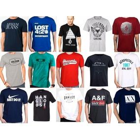 Camiseta Masculina Kit 10 Peças. Cores E Estampas Sortidas.