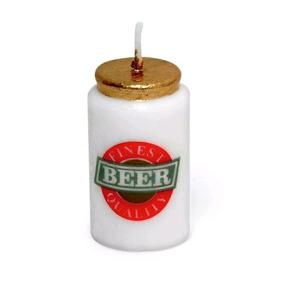 Vela De Aniversário Cerveja - Pct C/06 Unds 15x5x18cm Bp1005