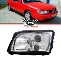 Farol Audi A6 C/ Aux. 1994 1995 1996 94 95 96 Lado Esquerdo