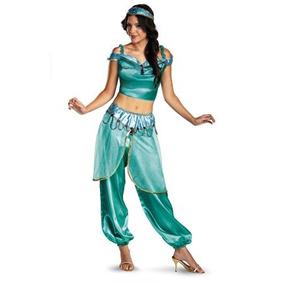 Disfraz Traje De Lujo De Disney Jasmine De Aladdin De Disfr