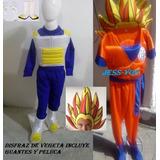 2 Trajes 1 De Vegeta Y 1 De Goku Tallas 2,4,6,8,10 Y 12