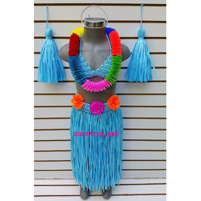 Disfraz Hawaiana Envio De Regalo Disfraces Niñas Vestidos M3