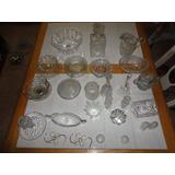 30 Piezas De Cristal Puro Antiguo