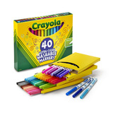Crayola Ultra-clean Fine Line Markers, Lavable, 40 Count