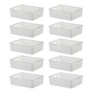 10 Cestos Organizador Multifuncional Quadratta 27x21x8cm 891