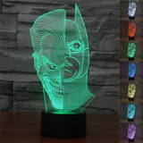 Abaju Luminária Led Cromoterapia Dc Superhero Two-face Joker