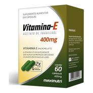 Vitamina E 400mg Com 60 Cápsulas Maxinutri