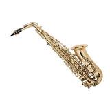 Monopriece Saxofón Alto Eb Con Correa De Cuello Y Estuche