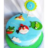 Tortas Temáticas Angry Birds Infantiles