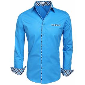 Camisa Hotouch Azul Cielo Importada Talla L Envío Gratis!