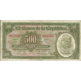 Billete Colombia 6 Dígitos 500 Pesos 1964