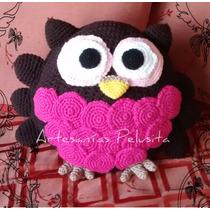 Almohadón Decorativo Tejido Crochet Buho