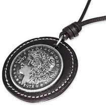 Collar De Piel Vintage Moneda Dolar Morgan