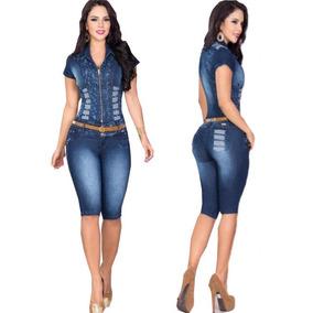 Macacão Jeans Glam Atenção Pronta Entrega **
