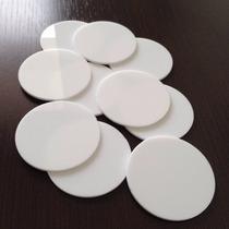 Base Redonda 5cm 50 Peças Acrílico Branco Topo Bolo Biscuit