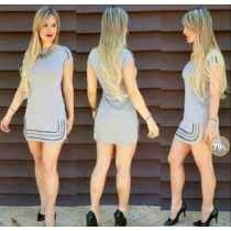 Vestido Pedraria Manga Curta + Blazer Cottom Colorido