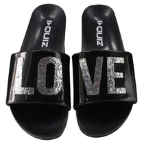 Chinelo Slide Quiz Love Preto Original 47-69640